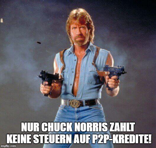 P2P-Kredite Steuer Chuck Norris Meme