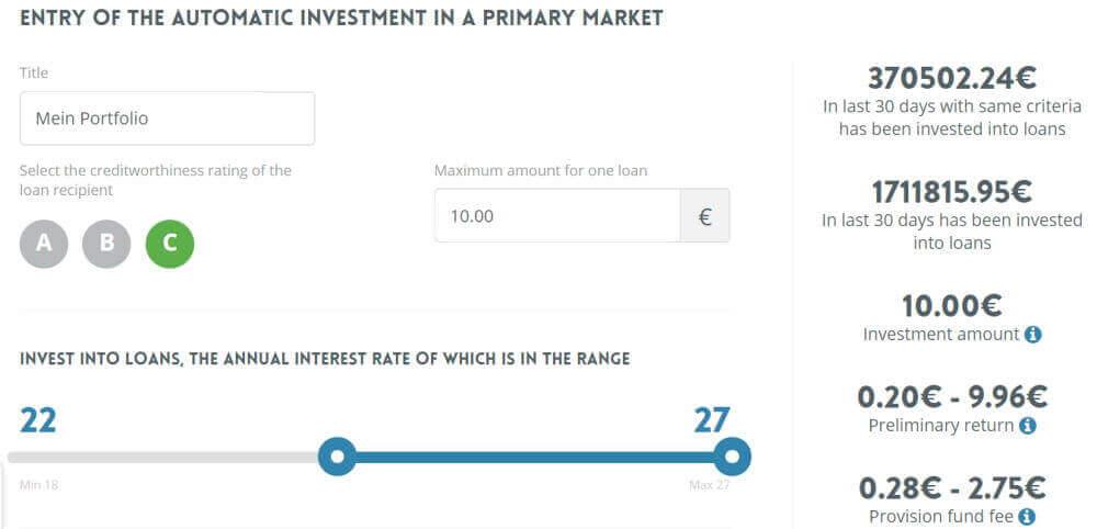 neo finance auto invest detail