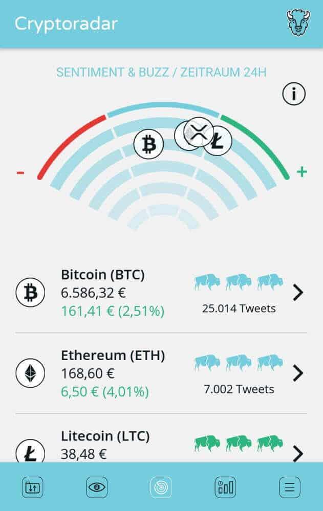 bison app crypto radar