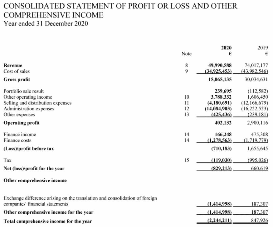 creamfinance geschäftsbericht 2020 auszug
