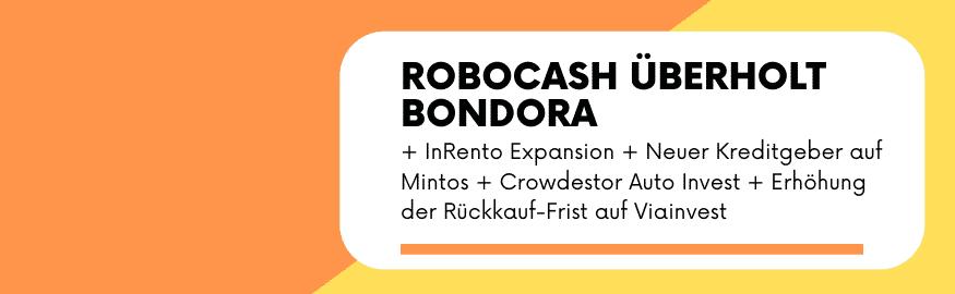 p2p kredite news robocash bondora